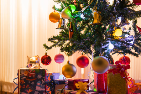 Christmas trees and gifts