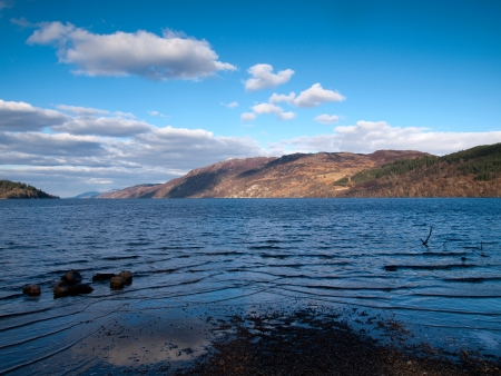 View from Fort Augustus over the famous Loch Ness in Scotland