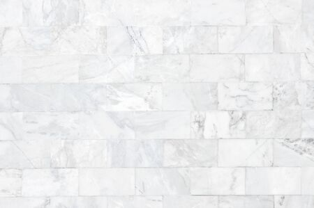 Photo for White marble wall pattern with high resolution. Brick wall made from marble use as texture and background. - Royalty Free Image