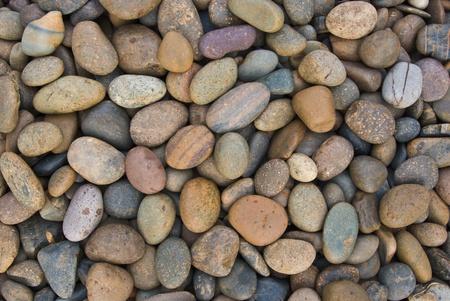 wall pattern of gravel stone