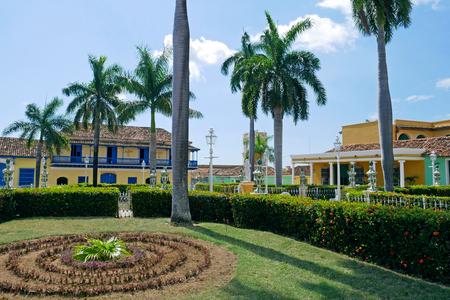 Photo pour Plaza Mayor of Trinidad in Cuba. - image libre de droit
