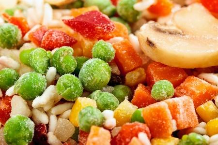 Fridge food - closeup of frozen vegetables