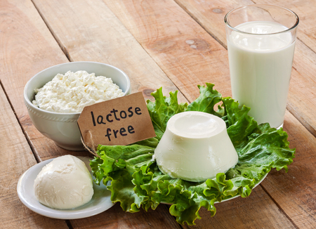 Photo pour lactose free intolerance - food with background - image libre de droit