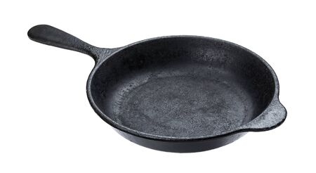 Photo for Old cast iron pan isolated on white background with clipping path - Royalty Free Image