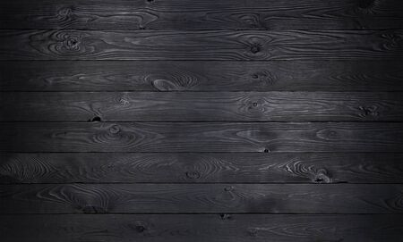 Foto per Black wooden background, old wooden planks texture - Immagine Royalty Free