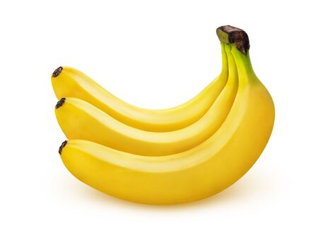 Photo for Banana isolated on white background with clipping path, bunch of bananas - Royalty Free Image