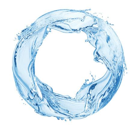 Photo pour Circle water splash isolated on white background - image libre de droit