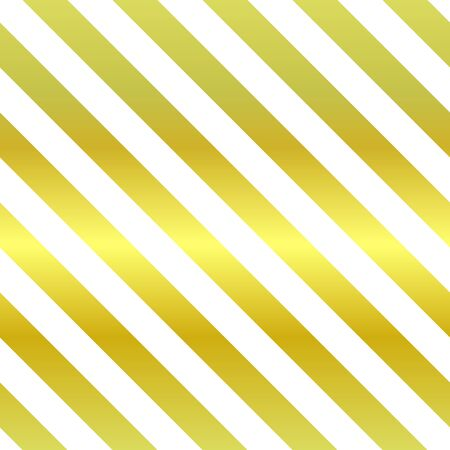Illustration for Seamless vector sparkling pattern. Diagonal repeating gold and white stripes. Holiday classic illustration for posters, backgrounds, wallpapers, wrapping paper, textile. Trend geometric metal picture - Royalty Free Image