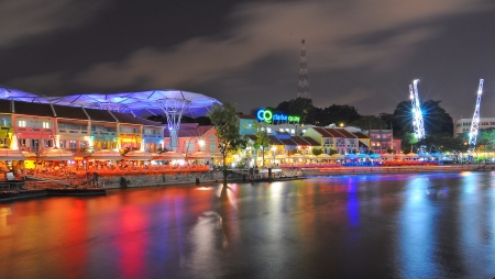Clark Quay, historical riverside quay in Singapore