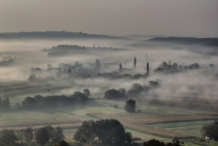 Morning fog and haze in the valley - sleepy hollow