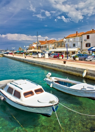 Adriatic town of Biograd na moru colorful waterfront and harbor