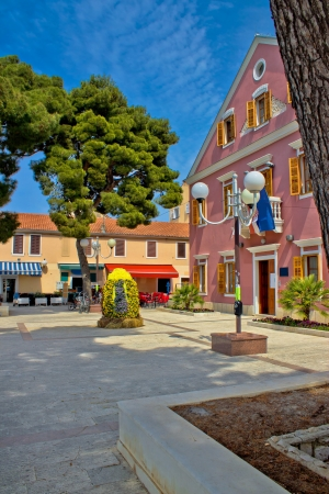 Biograd na moru central square and city hall, Dalmatia, Croatia