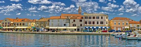 Town of Biograd na moru colorful waterfront panoramic view, Dalmatia, Croatia