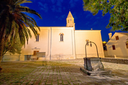 Biograd Na Moru old square and church, Dalmatia, Croatia