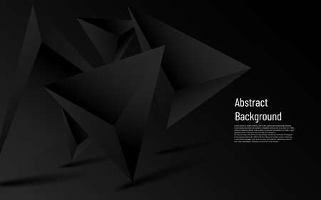 Illustration for abstract luxury more dark triangle  with black background - Royalty Free Image