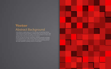 Illustration pour abstract red 3d multiple mosaic and gray text space create - image libre de droit