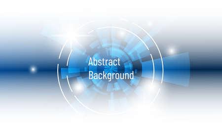 Illustration pour abstract digital blue circle overlap and blur effect space design - image libre de droit