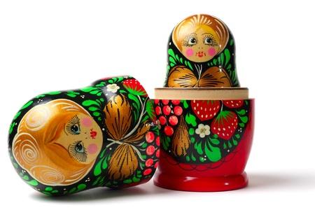Photo pour Russian toys  Nesting Dolls also known as Babushka or Matreshka - image libre de droit