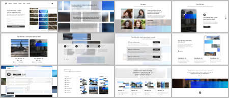 Photo pour Vector templates for website design, presentations, portfolio. Templates for presentation slides, flyer, leaflet, brochure cover. Corporate business identity style for any purposes. Business template. - image libre de droit
