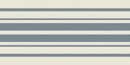 Illustration pour Modern french Farmhouse pattern in teal blue and beige colors. Seamless vector background. Linen vintage kitchen fabric. Textile ribbon trim texture. - image libre de droit