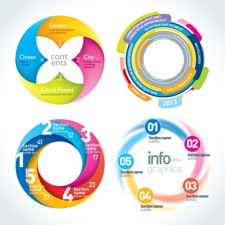 Abstract Circle Infographics Design Template