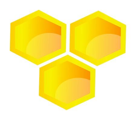 illustration of honeycomb isolated on white background