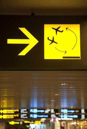 Transit sign at Changi International Airport