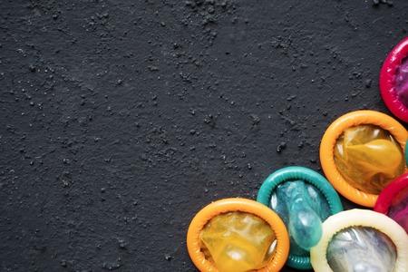 Photo pour High angle view of many condoms - image libre de droit