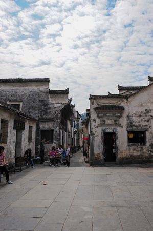 In 2011, xixigu village in yixian county, anhui province.
