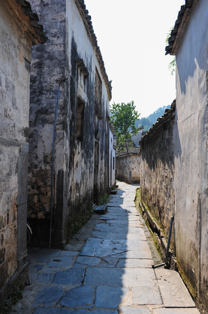 In 2011, street at xixigu village in yixian county, anhui province.