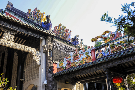Chen clan ancestral hall in guangzhou, guangdong province, China