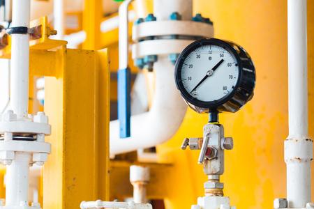 Closeup of pressure gauge