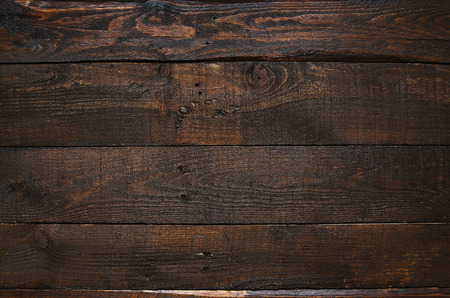 Photo for Dark brown rustic  aged barn wood planks background. - Royalty Free Image