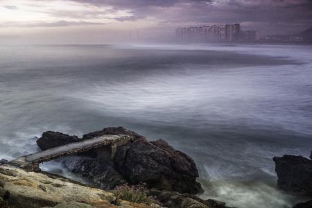 Viewpoint of the beach of salinas in Asturias