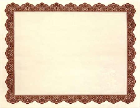 Photo pour Blank Certificate / Award - image libre de droit