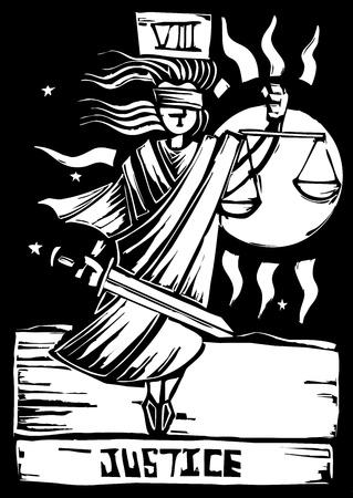 Tarot Card Major Arcana image of Justice