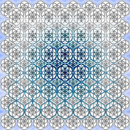 The Flower of Life Sacred Geometry Art Background Pattern Perfect for Any Commercial or Spiritual Communication