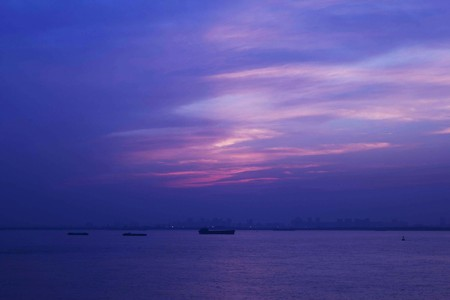 Evening view of the Yangtze River