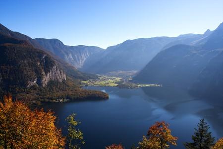 Mountain lake in Austria, Hallstattersee