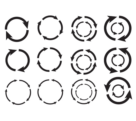 Arrow circle graphic design vector eps10