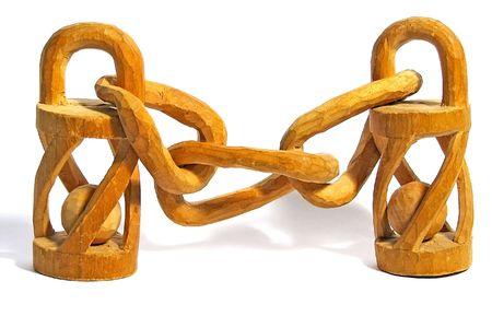 Amazing wooden chain.