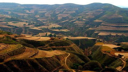 China, the Northern Plateau, loess terrace