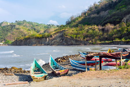 Fishing boats on the northern coast of Ecuador, Province of Esmeraldas