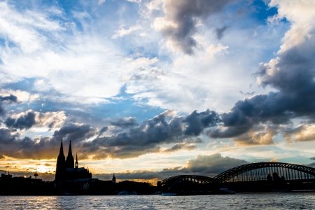 Evening Sky In Cologne