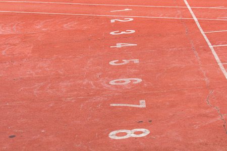 Start point of running track.