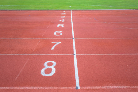 Start point with number of running track.
