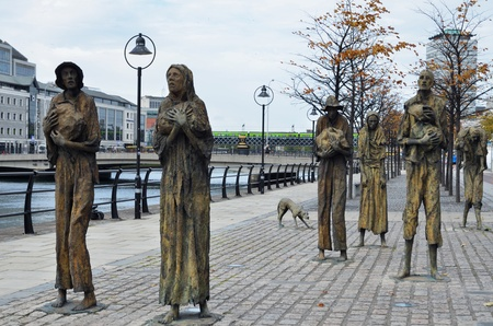 Photo for famous Famine Memorial in Dublin due to hunger crisis between the years 1845 and 1852  - Royalty Free Image