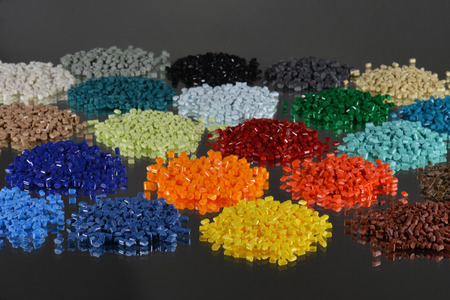 heaps of polymer batches for injection moulding industry