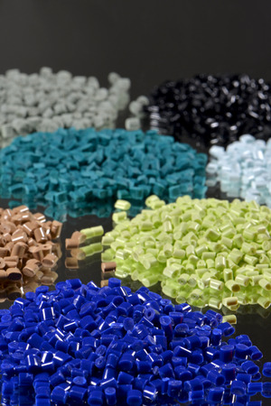 some dyed polymer resins for injection moulding industry