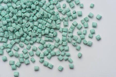 Photo pour glass fibre impact green polymer resin on white - image libre de droit